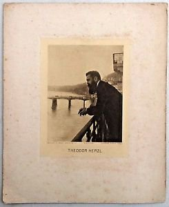 E.M. Lilien � Original Gravure of Theodore Herzel - Very Rae!