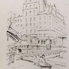 Le Berger Robert (1905-1972) - Hand Signed in Plate lithograph