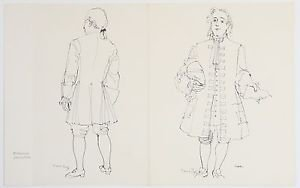 """Dufy Raoul """"Newton"""" Hand Signed in printing Plate Lithograph 1965"""
