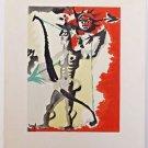 "Lurcat Jean – ""Composition"" Homage a Raoul Dufy Lithograph"