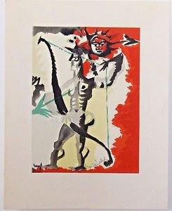 "Lurcat Jean � ""Composition"" Homage a Raoul Dufy Lithograph"