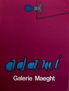 "Adami Valerio original ""Gallery Maeght"" French Mid Century Modern Art Poster"