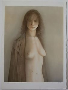 """MAZILU Georges - """"Femme Nue"""" Hand Signed and Numbered 219/300"""