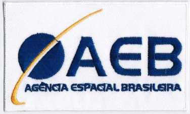 Brazilian Space Agency AEB Badge Iron On Embroidered Patch