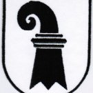 Canton of Basel-Stadt Coat of Arms Switzerland Swiss Confederation Iron On Embroidered Patch 2.5x3