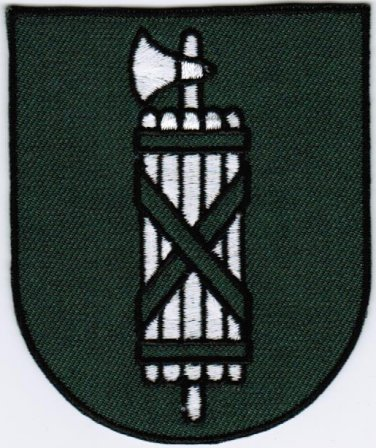 Canton of St. Gallen Coat of Arms Switzerland Swiss Confederation Iron On Embroidered Patch 2.5x3