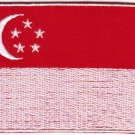 Flag Singapore Nation Emblem Badge Iron On Embroidered Patch 3x2