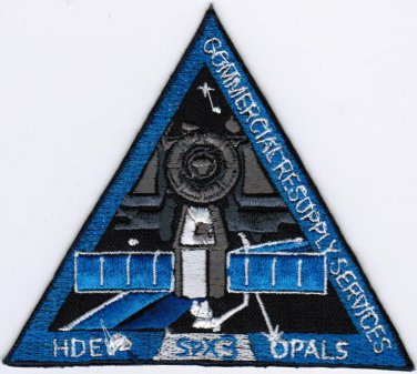 ISS Expedition 39 Spacex 14 NASA SPX-3 CRS-3 Dragon Space Iron On Embroidered Patch 4x3.5