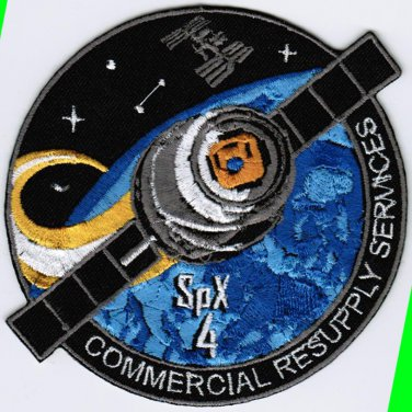 ISS Expedition 41 Spacex 18 NASA SPX-4 CRS-4 Space Iron On Embroidered Patch