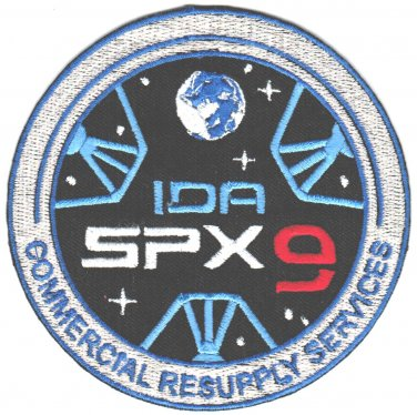 ISS Expedition 48 Spacex Dragon SPX-9 NASA CRS-9 Space Iron On Embroidered Patch