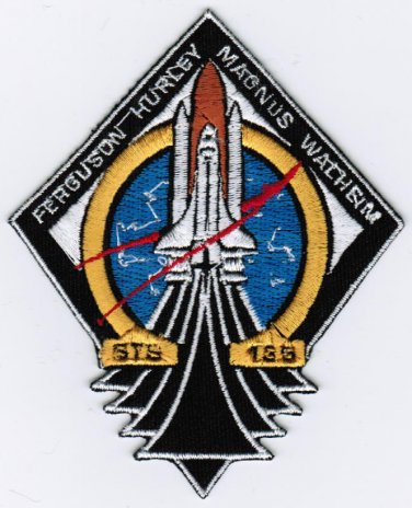 NASA STS-135 Mission ISS Space Flight Embroidered Patch 3.2x4