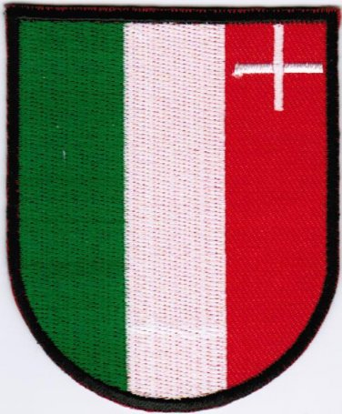Republic and Canton of Neuchatel Coat of Arms Switzerland Swiss Iron On Embroidered Patch 2.5x3