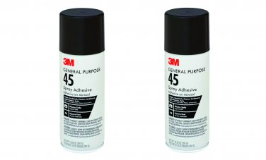 3M General Purpose 45 Spray Adhesive 10-1/4-Ounce - 2 cans