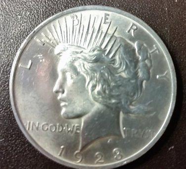 1923 PEACE SILVER DOLLAR 90% SILVER Good Condition