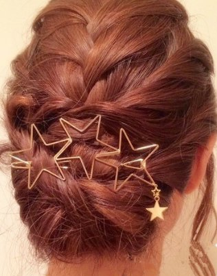 Star Spangled Hair Clip - Gold (color)