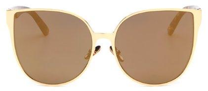Women's Oversized Cat Eye Fashion Sunglasses - Gold - UV400
