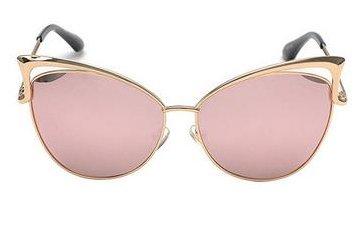 Women's Mirror Cat Eye Vintage Fashion Style Sunglasses - Pink
