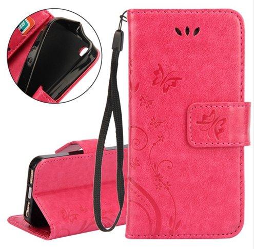 Multi Purpose Vintage iPhone 7 Wallet Stand - Pink