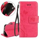 Multi Purpose Vintage iPhone 7 Wallet Stand - Pink