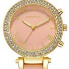 Women's Rhinestone Studded Bracelet Watch - Pink