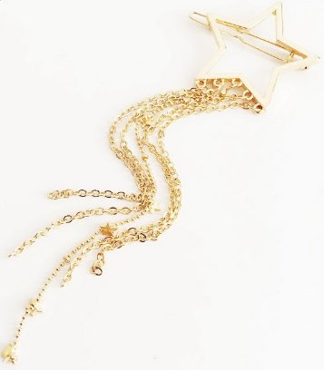 Shining Star Hair Clip - Gold (color)