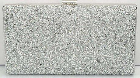 Women's Crystal Rhinestone Clutch Purse - Silver (color)