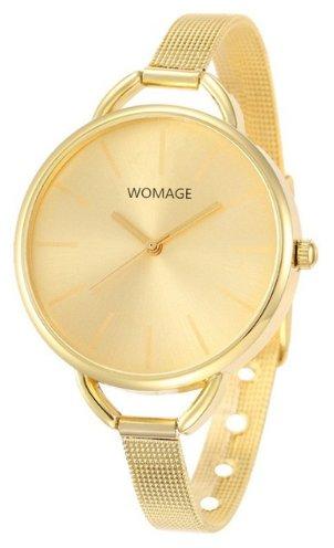 Women's Minimalist Bracelet Fashion Watch - Gold (color)