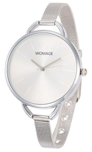 Women's Minimalist Bracelet Fashion Watch - Silver (color)