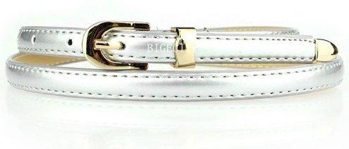 Women's Skinny Belt - Silver