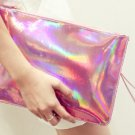 Metallic Neon Messenger Style Clutch Purse - Pink
