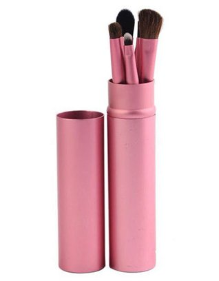 5 Piece Makeup Brush Set - Pink