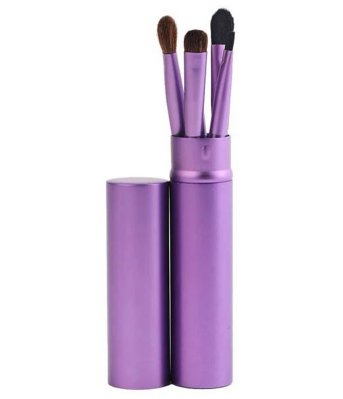 5 Piece Makeup Brush Set - Purple