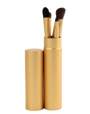 5 Piece Makeup Brush Set - Gold
