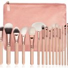15 Piece Pro Makeup Brush Set - Pink