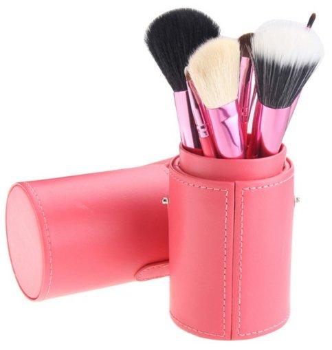 12 Piece Makeup Brush Set - Pink