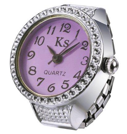 Rhinestone Studded Women's Fashion Watch - Purple