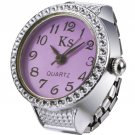 Rhinestone Studded Women's Fashion Watch - Purple