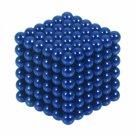 216pcs 3mm DIY Buckyballs Round Shape Neocube Magnet Toy Magic Ball Blue