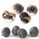 Novel Caomaru Human Face Stress Reliever Relief Squeeze Vent Ball Black (Random Delivery)