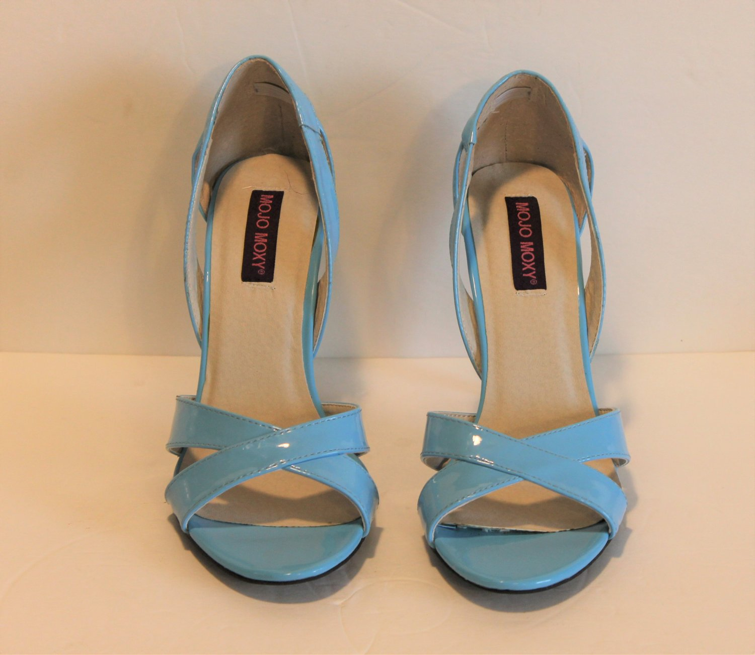 Mojo Moxy Lucy Blue Strappy Dress Pump Sandal Size 8.5