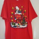 New Peanuts Gang Snoopy Woodstock Christmas Gift Friendship T-Shirt Men's XL Red
