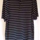 Mens Champion Golf Polo  Black White Striped  Size L