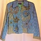 Vintage Embroidered Denim Jacket by Yak Magic Button Down  Size S