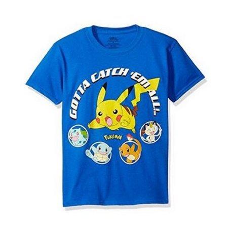 Men's Small Blue Pokemon Gotta Catch Em All Tee