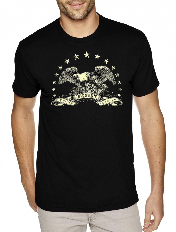 American Eagle Resistance Shirt - RESIST TRUMP FASCISM - Premium Sueded T Shirt SIZE S