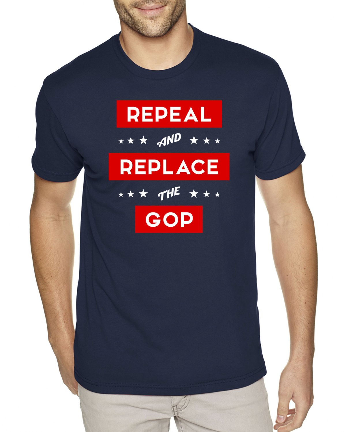 REPEAL AND REPLACE THE GOP - Premium Sueded Shirt SIZE M