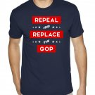 REPEAL AND REPLACE THE GOP - Premium Sueded Shirt SIZE L