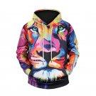 BOHO Style Lion Printed Men's Fashion Hoodies, Men's Fashionable Sweater Shirt