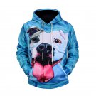 Dog Comic Style Men's Polyester Hoodies, Fashion Men's Sweater Shirt With Hood