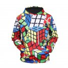Cube Pattern Fashion Men's Hoodies, Stylish Sweater Shirt With Hood for Men